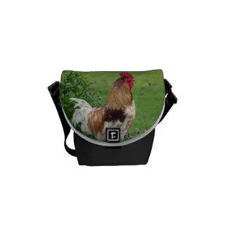 Lucky rooster courier bag