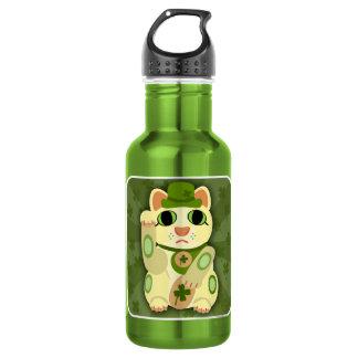 Lucky Saint Patrick's Day Cat Water Bottle