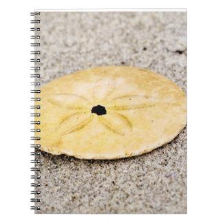 Lucky Sand Dollar Spiral Note Books
