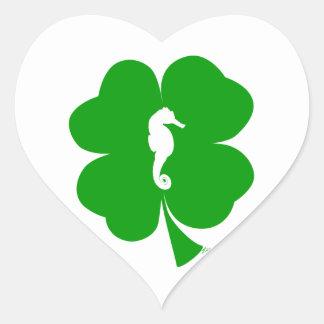 Lucky Seahorse Heart Sticker