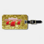 lucky seven and coins luggage tag