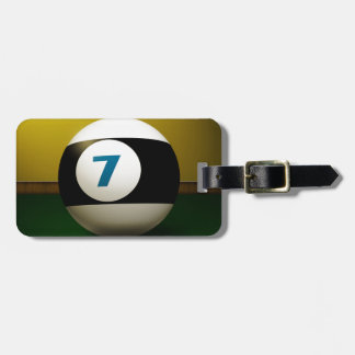 Lucky Seven Billiard Ball Tags For Bags