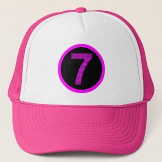 Lucky Seven Vibrational Spirals Circle Crest Hat