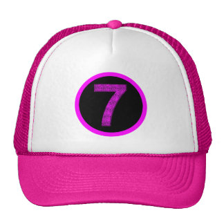Lucky Seven Vibrational Spirals Circle Crest Hat