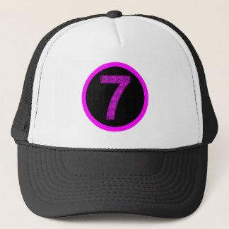 Lucky Seven Vibrational Spirals Circle Logo Hat