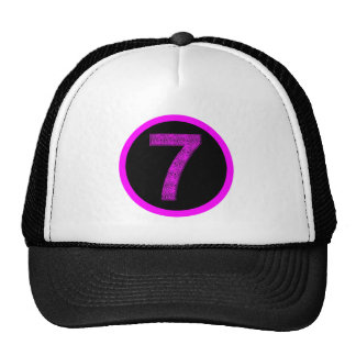 Lucky Seven Vibrational Spirals Circle Logo Hat