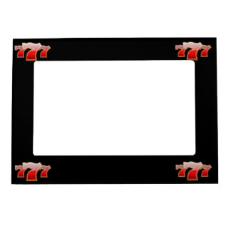 Lucky Sevens - Slot Machine Jackpot Magnetic Picture Frames