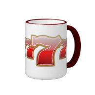 Lucky Sevens - Slot Machine Jackpot Ringer Coffee Mug