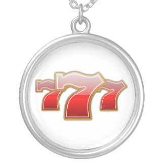 Lucky Sevens - Slot Machine Jackpot Silver Plated Necklace