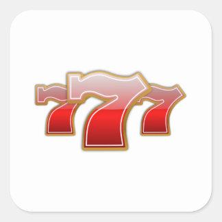 Lucky Sevens - Slot Machine Jackpot Square Sticker
