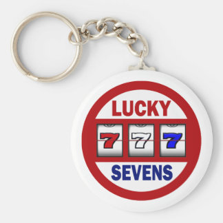 Lucky Sevens Slots Keychain