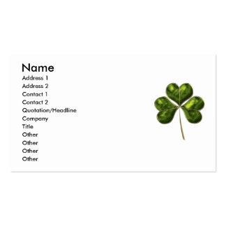 Lucky Shamrock 1 Business Card Templates