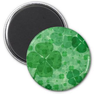 Lucky Shamrock 2 Inch Round Magnet