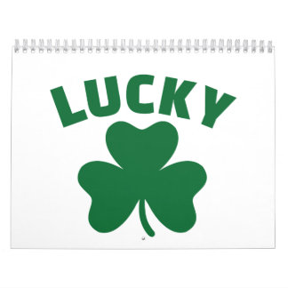 Lucky shamrock calendar