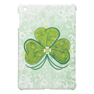 Lucky Shamrock Clover - floral  Cover For The iPad Mini