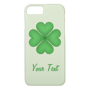 Lucky Shamrock Clover Leaf Hearts Customizable iPhone 8/7 Case