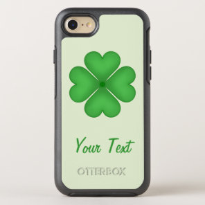 Lucky Shamrock Clover Leaf Hearts Customizable OtterBox Symmetry iPhone 8/7 Case