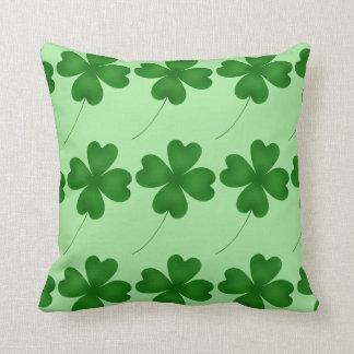 Lucky shamrock design throw pillow