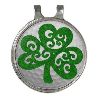 Lucky Shamrock Golf Hat Clip Ball Marker