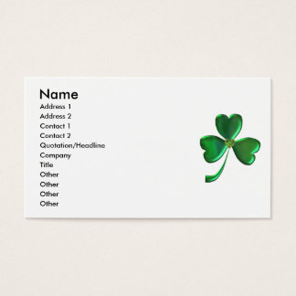 Lucky Shamrock Hearts 1 Business Card