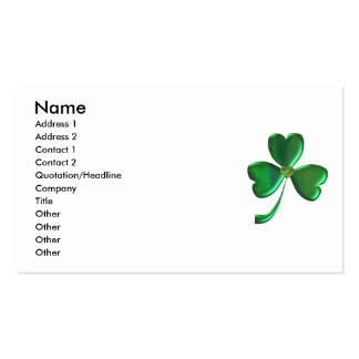 Lucky Shamrock Hearts 1 Double-Sided Standard Business Cards (Pack Of 100)