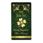 Lucky Shamrock Lace Gold Beer Label