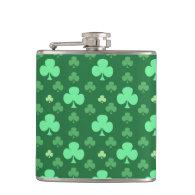 Lucky Shamrock Pattern Flask