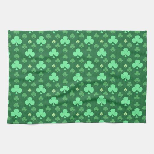 Lucky Shamrock Pattern Towel
