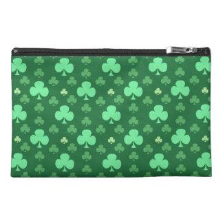 Lucky Shamrock Pattern Travel Accessory Bag