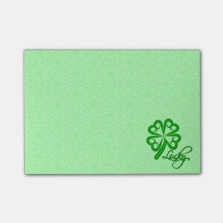 Lucky Shamrock Post-it® Notes