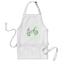 Lucky Shamrock St Patricks Day Adult Apron