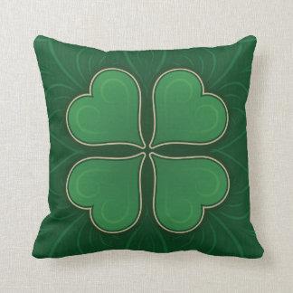 Lucky Shamrock Throw Pillow