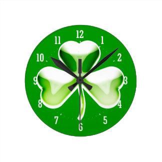 Lucky shamrock Wall Clock