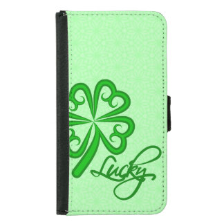 Lucky Shamrock Wallet Phone Case For Samsung Galaxy S5