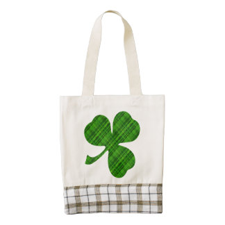 Lucky Shamrock Zazzle Heart Tote Bag