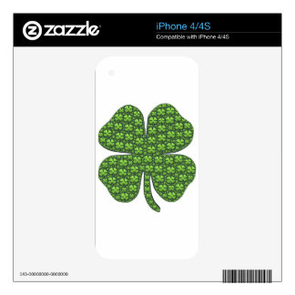 Lucky Shamrocks Decal For iPhone 4