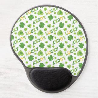 Lucky Shamrocks Gel Mousepad