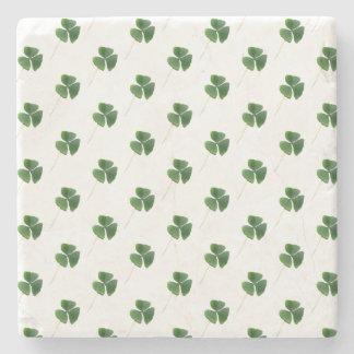 Lucky Shamrocks Pattern Stone Coaster