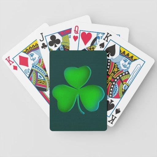 Lucky shamrocks Playing Cards
