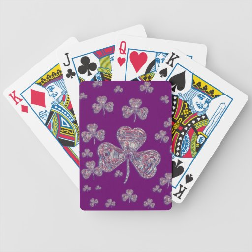 Lucky shamrocks Playing Cards