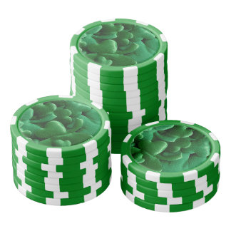 Lucky Shamrocks Poker Chips Set