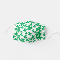 Lucky Shamrocks St Patrick's Day Adult Cloth Face Mask