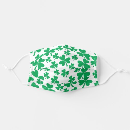 Lucky Shamrocks St Patricks Day Adult Cloth Face Mask