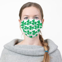 Lucky Shamrocks - St Patricks Day Adult Cloth Face Mask
