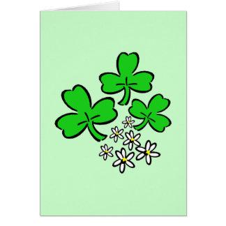 Lucky Shamrocks Stationery Note Card