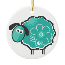 Lucky Sheep Ceramic Ornament