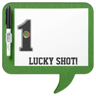 Lucky Shot Hole in One Golf Humor Dry Erase Board