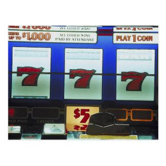 Lucky Slot Machine Winner Postcard