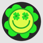 Lucky Smiley Classic Round Sticker