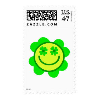 Lucky Smiley Postage Stamp
